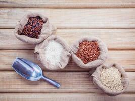Sacks of grains photo