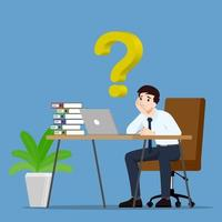 Businessman thinking or dreaming vector