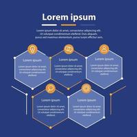 Infographic thin line design with icons and 5 steps vector