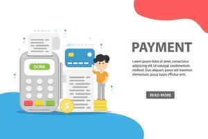 concepto de pagos en línea y móviles vector