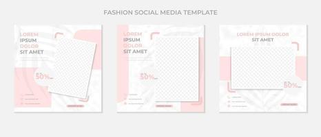 social media post template vector