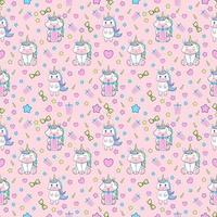 unicorn seamless pattern. vector illustration