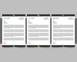 Multiple Letterhead Template vector