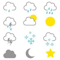 Simple graphic of weather icons vector