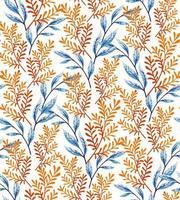 Orange leaves seamless pattern vector