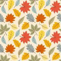 Simple autumn pattern vector