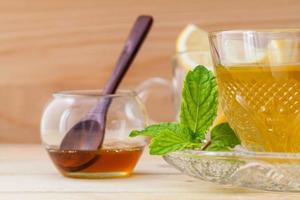 Close-up of herbal tea photo