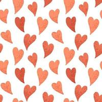 Seamless red hearts tile vector