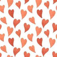 mosaico de corazones rojos sin costura vector