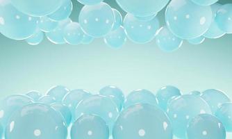 Fondo abstracto con esferas de bolas 3d