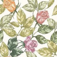 Vintage rose pattern vector