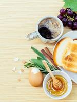Healthy breakfast with coffee