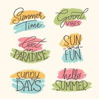Collection of summer icon vector