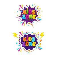 diseño de icono de vector de evento de título de niños