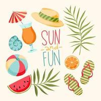 ilustración de vacaciones de verano vector