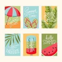 colección de tarjetas de verano vector