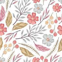 Pastel colors flower pattern vector