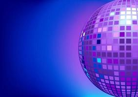 Ilustración de bola de discoteca espejo para plantilla de diseño de fondo