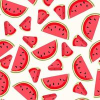 Watermelon seamless pattern vector