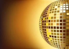 Ilustración de bola de discoteca espejo para plantilla de diseño de fondo vector