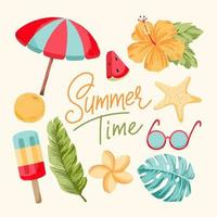 Ilustración de vector de horario de verano