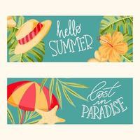 banner de verano con letras vector