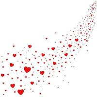 Abstract illustration of hearts falling from sky, love is in the air vector