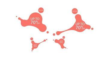 Human shaped fluid. Sale fluid shape banner design. 70 off. Special offer background. Vector discount banner