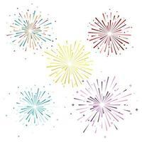 Firework vector icon illustration