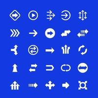 Conjunto de flechas, iconos de dirección, vector.eps vector