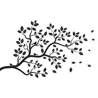 Tree branch vector ilustration design