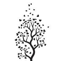 diseño de ilustración de vector de amor de rama de árbol