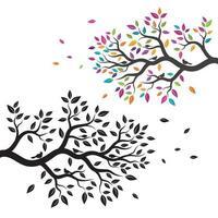 diseño de ilustración de vector de rama de árbol
