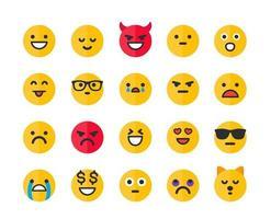 emoticonos, emoji iconos vectoriales set.eps vector