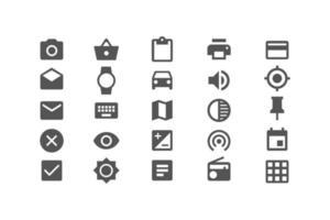 diferentes iconos establecen ilustración de vector de símbolo para sitio web y aplicación móvil