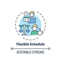 icono de concepto de horario flexible
