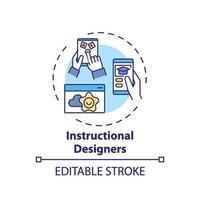 icono de concepto de diseñadores instruccionales vector