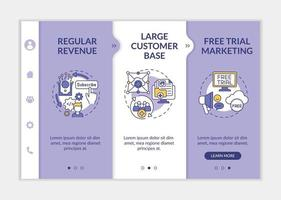 Software as service pluses for developers onboarding vector template