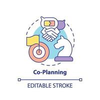 icono del concepto de co-planificación vector