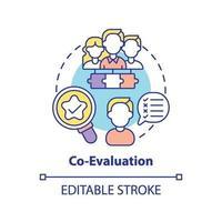 icono del concepto de co-evaluación vector