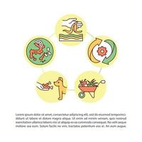 Giving food a second chance concept icon with text vector