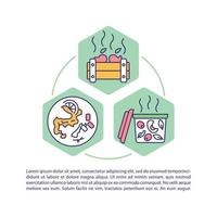 Food waste concept icon with text vector