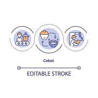 Collaborative robot concept icon vector