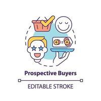 icono de concepto de posibles compradores vector