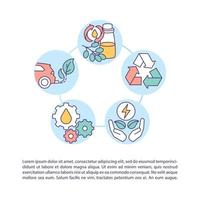 Used oil recovery and recycling concept icon with text vector