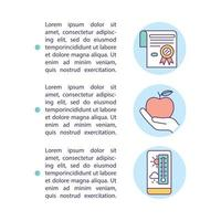 Careful food storage concept icon with text vector