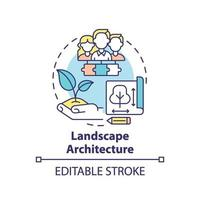 icono del concepto de arquitectura del paisaje vector