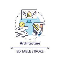 icono del concepto de arquitectura vector