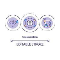 icono del concepto de sensorización vector