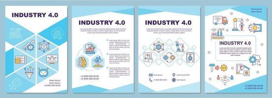 Industry 4.0 brochure template vector